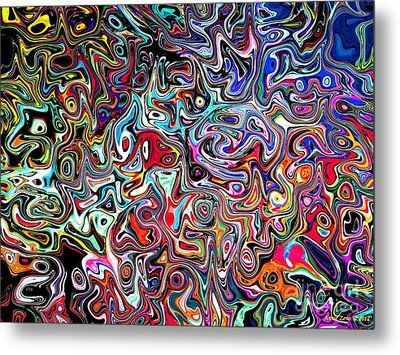 Carnival An Abstract Modern Contemporary Digital Art Metal Print