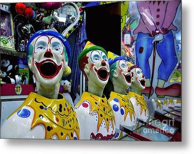 Carnival Clowns Metal Print by Kaye Menner