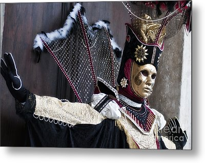 Carnival In Venice 14 Metal Print by Design Remix