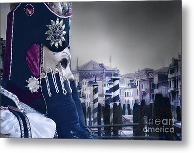 Carnival In Venice 20 Metal Print by Design Remix