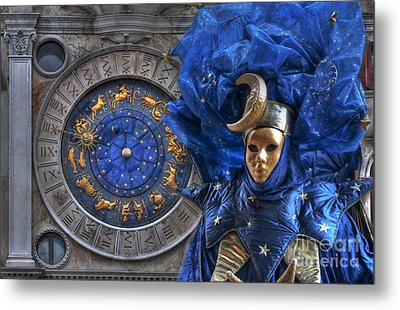 Carnival In Venice 3 Metal Print by Design Remix
