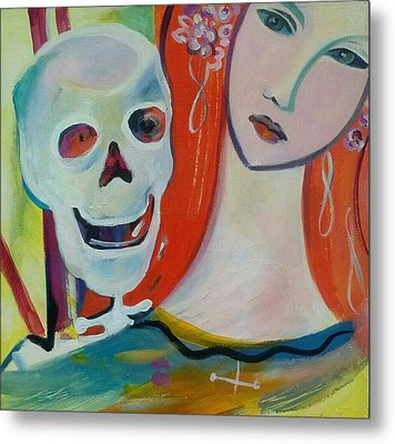 Carnival Of Bones Metal Print by Marlene LAbbe