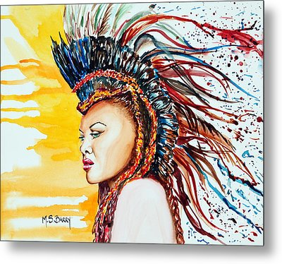Carnival Queen Metal Print by Maria Barry