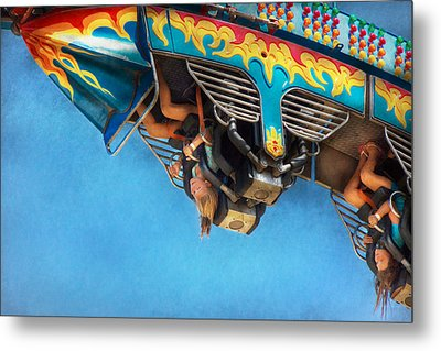 Carnival - Ride - The Thrill Of The Carnival  Metal Print by Mike Savad