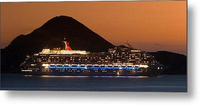 Carnival Splendor At Cabo San Lucas Metal Print by Sebastian Musial