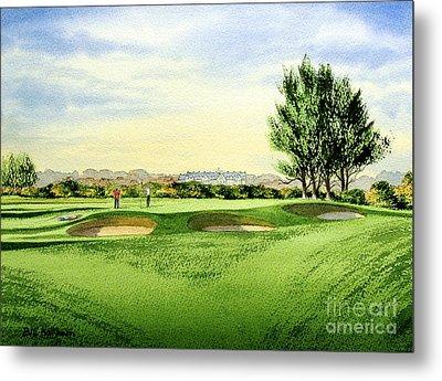 Carnoustie Golf Course 13th Green Metal Print