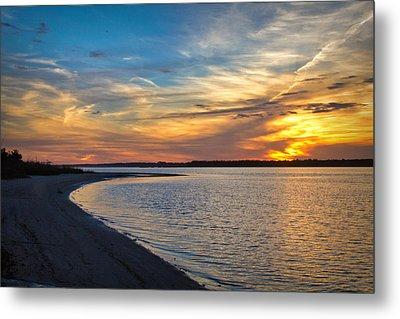 Carolina Beach River Sunset II Metal Print