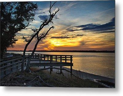 Carolina Beach River Sunset Metal Print