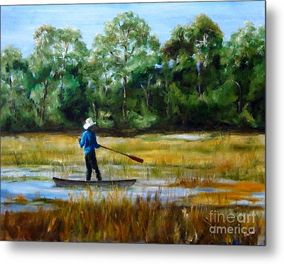 Carolina Cove Metal Print by Diane Kraudelt
