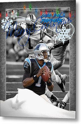 Carolina Panthers Christmas Card Metal Print