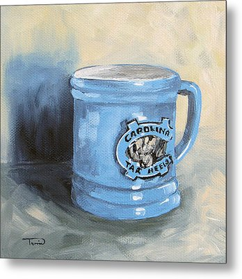 Carolina Tar Heel Coffee Cup Metal Print by Torrie Smiley