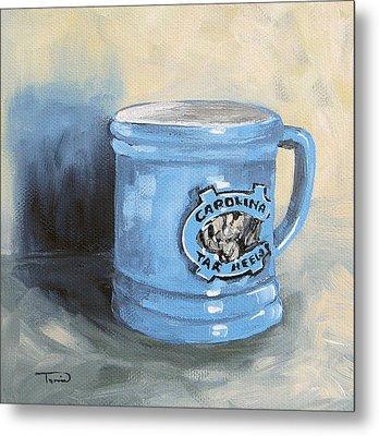 Carolina Tar Heel Coffee Cup Metal Print