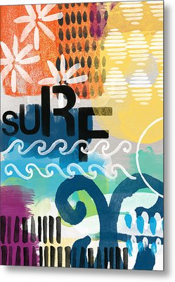 Carousel #7 Surf - Contemporary Abstract Art Metal Print by Linda Woods