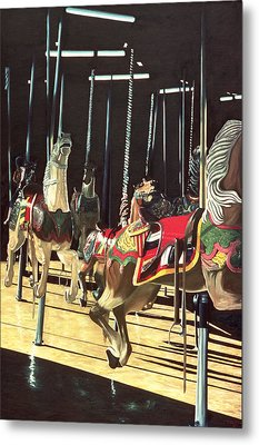 Carousel Metal Print by Anthony Butera