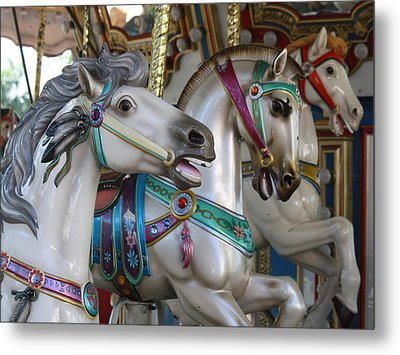 Carousel Metal Print by Donna Walsh