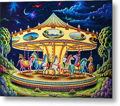 Carousel Dreams 3 Metal Print by Andy Russell