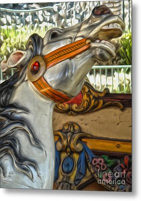 Carousel Horse - 01 Metal Print by Gregory Dyer