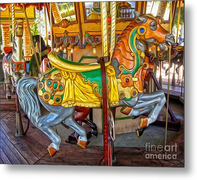 Carousel Horse - 03 Metal Print by Gregory Dyer