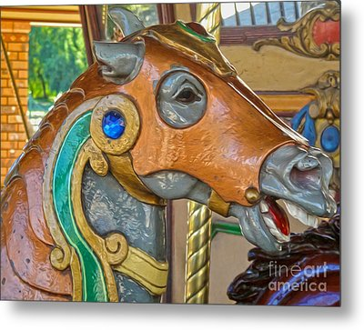 Carousel Horse - 04 Metal Print by Gregory Dyer