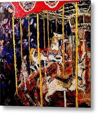 Carousel  Main Attraction  Metal Print by Mark Moore