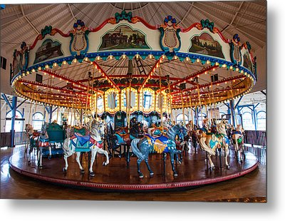 Metal Print featuring the photograph Carousel Ride by Jerry Cowart