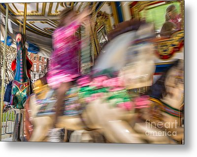 Carousel Metal Print by Susan Cole Kelly Impressions