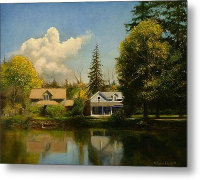 Metal Print featuring the painting Carpenter's Pond by Wayne Daniels