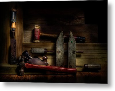 Carpentry Still Life Metal Print by Tom Mc Nemar