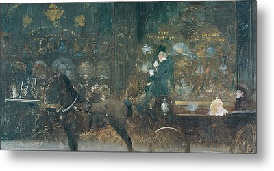 Carriage Ride Metal Print by Giuseppe De Nittis