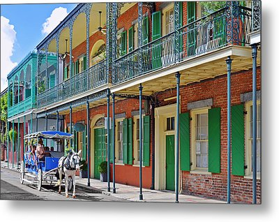 Carriage Ride New Orleans Metal Print by Christine Till
