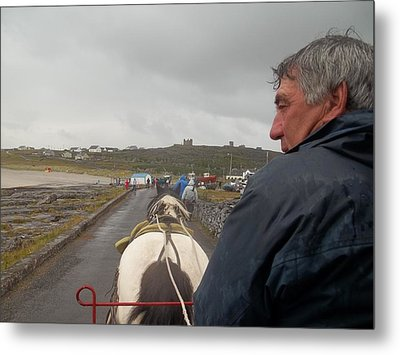 Carriage Ride On Inis Oirr Metal Print