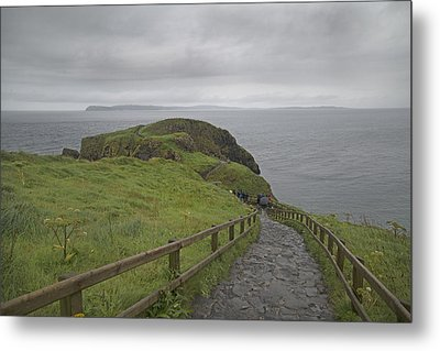 Carrick-a-rede Pathway Ireland Metal Print by Betsy Knapp