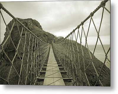 Carrick-a-rede Rope Bridge Metal Print