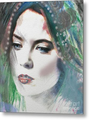 Carrie Under Veil Metal Print by Kim Prowse