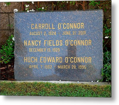 Carroll O'connor Metal Print by Jeff Lowe
