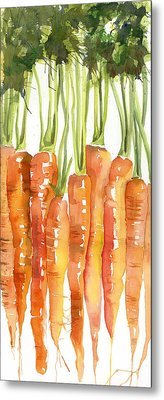 Carrot Bunch Art Blenda Studio Metal Print