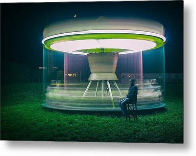 Carrousel Metal Print by Djaniru