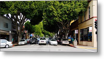 Cars On The Road In Downtown San Luis Metal Print by Panoramic Images