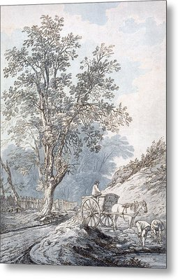 Cart And Horse Metal Print by Joseph Constantine Stadler
