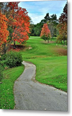 Cart Path Metal Print by Frozen in Time Fine Art Photography