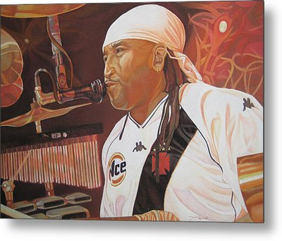 Carter Beauford At Red Rocks Metal Print by Joshua Morton