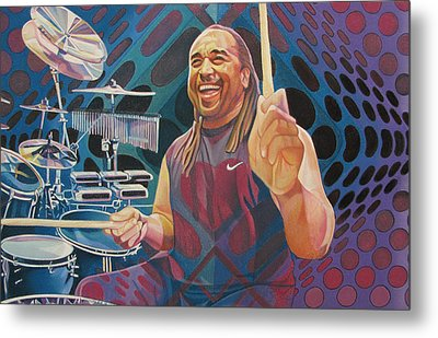 Carter Beauford Pop-op Series Metal Print