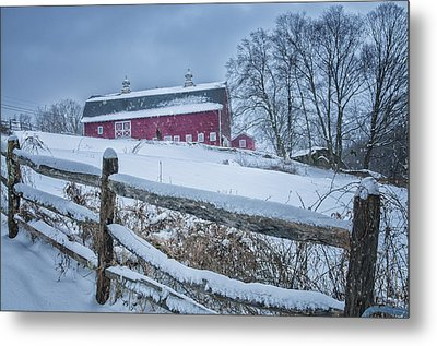 Carter Farm - Litchfield Hills Winter Scene Metal Print by Expressive Landscapes Fine Art Photography by Thom