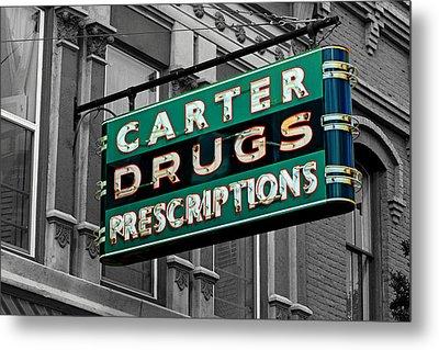 Carter Prescription Drugs Metal Print