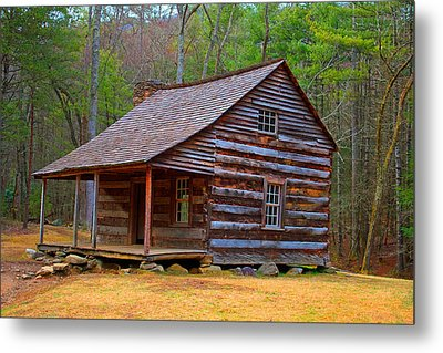 Carter Shields Cabin 2 Metal Print by Wild Expressions Photography
