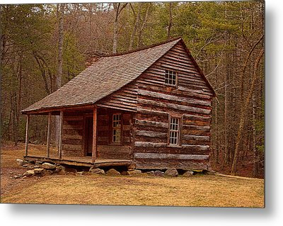 Carter Shields Cabin 3 Metal Print by Wild Expressions Photography