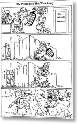 Cartoon: League Of Nations Metal Print by Granger