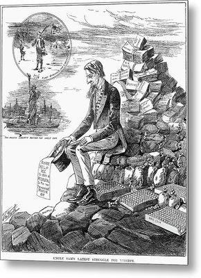 Cartoon Statue Of Liberty Metal Print