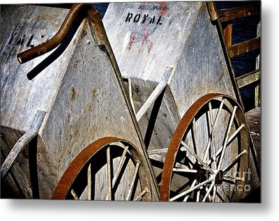 Metal Print featuring the photograph Carts Before The Catch by Sherry Davis