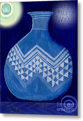 Carved Vase Under The Moon Metal Print